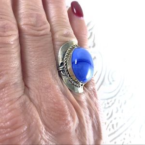 Jewelry - Silver and glass stone boho ring